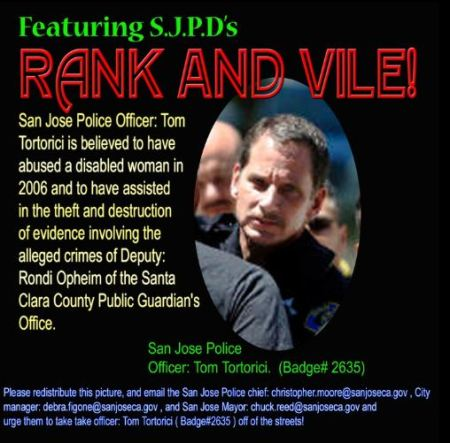 San Jose Police Officer: Tom Tortorici.(Badge# 2635)